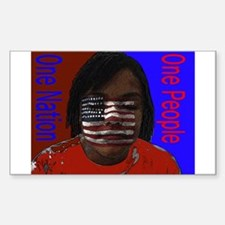 One Nation One People Rectangle Decal