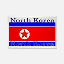 North Korea Korean Flag Rectangle Magnet