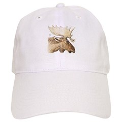 Moose Antler Head Baseball Cap