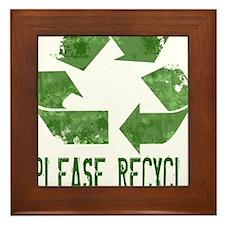 Please Recycle Grunge Framed Tile