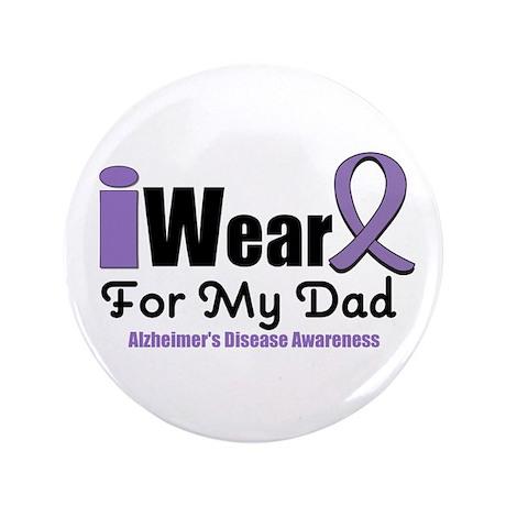 "I Wear Purple (Dad) 3.5"" Button"