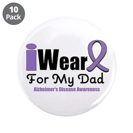 "I Wear Purple (Dad) 3.5"" Button (10 pack)"