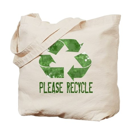 Please Recycle Grunge Tote Bag