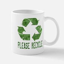 Please Recycle Grunge Mug