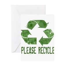 Please Recycle Grunge Greeting Card