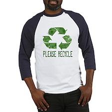 Please Recycle Grunge Baseball Jersey