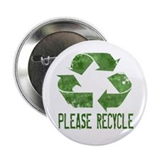 """Please Recycle Grunge 2.25"""" Button"""