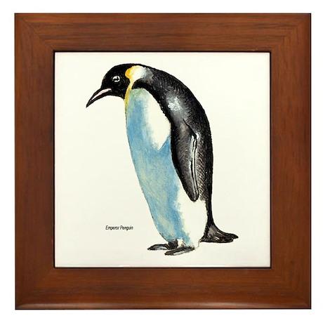 Emperor Penguin Framed Tile