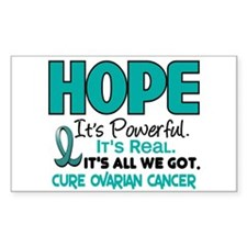 HOPE Ovarian Cancer 1 Rectangle Decal