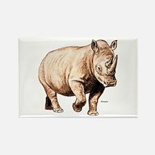 Rhino Rhinoceros Rectangle Magnet