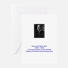Harvey Wiley FDA Greeting Cards (Pk of 20)