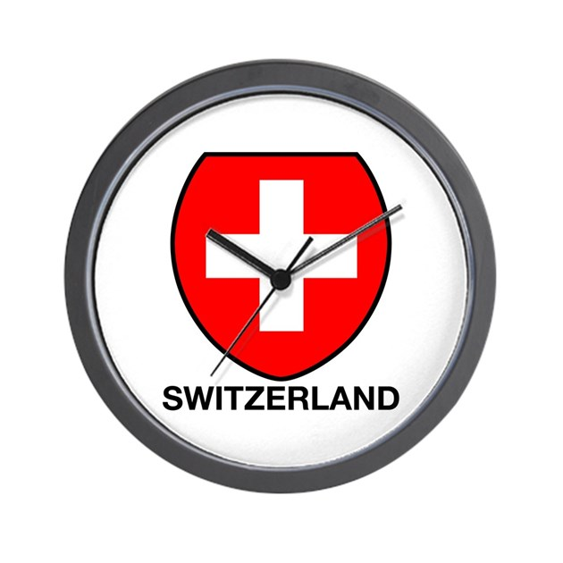 Switzerland Wall Clock By Swisssoup