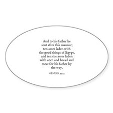 GENESIS 45:23 Oval Decal
