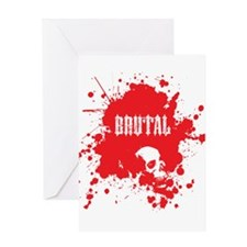 Brutal Blood Splatter Greeting Card
