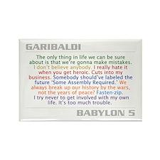 B5quotes.com - Garibaldi Quote Rectangle Magnet