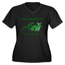 MourningWood Women's Plus Size V-Neck Dark T-Shirt
