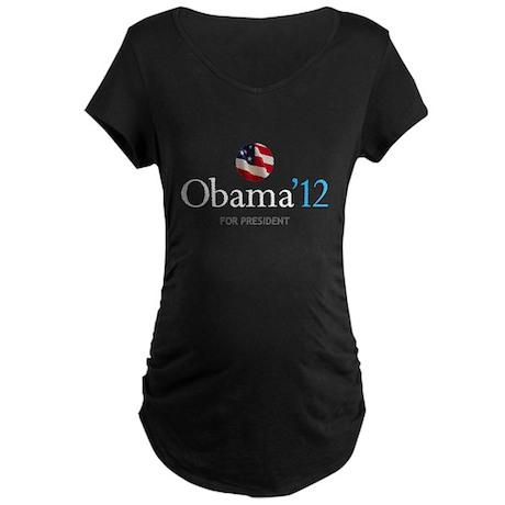 Obama '12 Maternity Dark T-Shirt