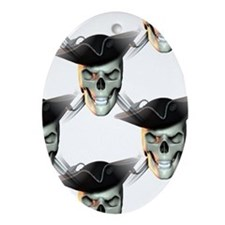 Pirate Skull Keepsake (Oval)