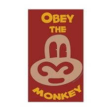 Obey Monkey Rectangle Decal