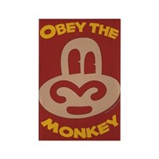 Obey Monkey Rectangle Magnet