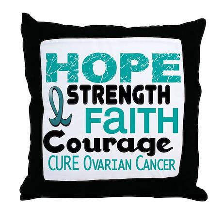 HOPE Ovarian Cancer 3 Throw Pillow