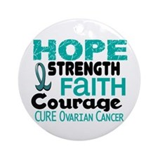HOPE Ovarian Cancer 3 Ornament (Round)