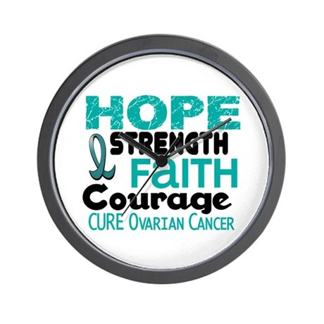 HOPE Ovarian Cancer 3 Wall Clock