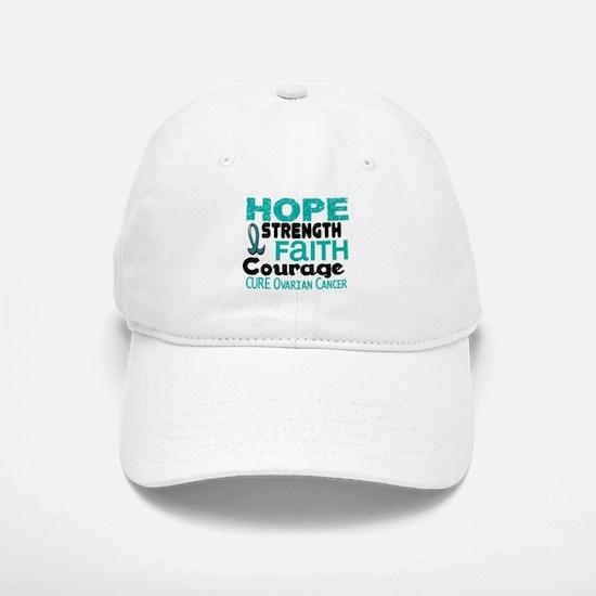 HOPE Ovarian Cancer 3 Baseball Baseball Cap
