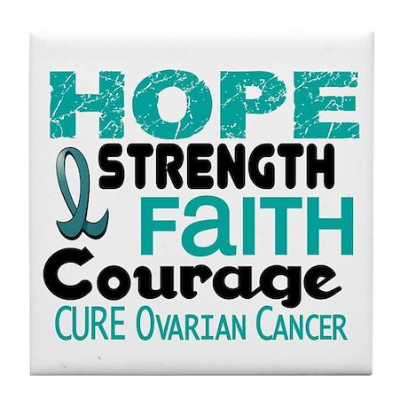 HOPE Ovarian Cancer 3 Tile Coaster
