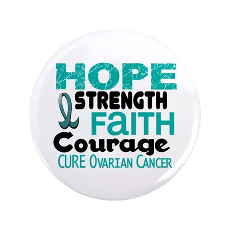 "HOPE Ovarian Cancer 3 3.5"" Button (100 pack)"
