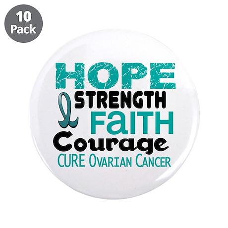 "HOPE Ovarian Cancer 3 3.5"" Button (10 pack)"