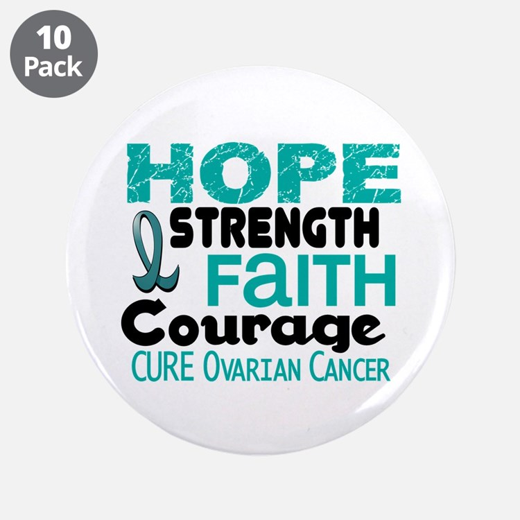 "HOPE Ovarian Cancer 3 3.5"" Button (10 pack)"