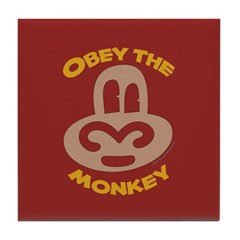 Obey Monkey Tile Coaster