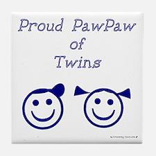 PawPaw of Twins Tile Coaster