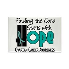 HOPE Ovarian Cancer 4 Rectangle Magnet