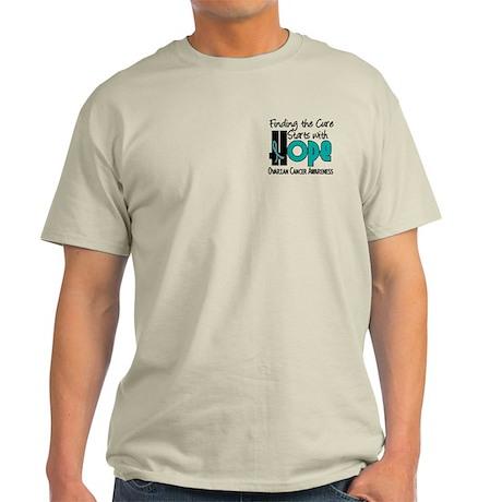 HOPE Ovarian Cancer 4 Light T-Shirt