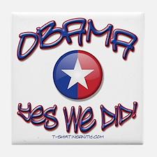 OBAMA Yes We Did! Tile Coaster