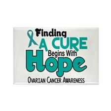 HOPE Ovarian Cancer 5 Rectangle Magnet