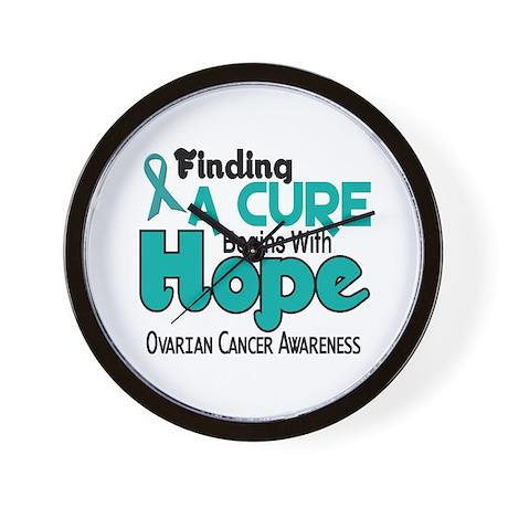 HOPE Ovarian Cancer 5 Wall Clock