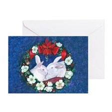 Two Bunnies and Mistletoe Christmas Cards (20)