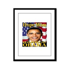 Hope Won Barack Obama Framed Panel Print