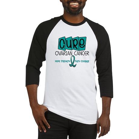 CURE Ovarian Cancer 1 Baseball Jersey