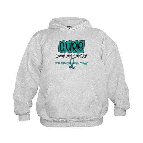 CURE Ovarian Cancer 1 Kids Hoodie