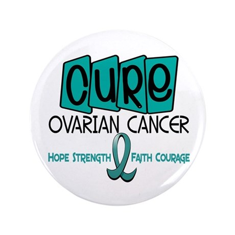 """CURE Ovarian Cancer 1 3.5"""" Button (100 pack)"""