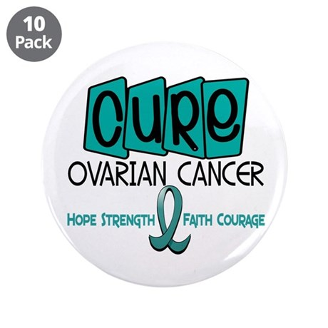 "CURE Ovarian Cancer 1 3.5"" Button (10 pack)"