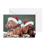 Chocolate Lab puppies Christmas Cards (Pk of 20)