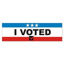 I Voted Bumper Sticker (50 pk)