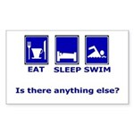 Eat Sleep Swim Rectangle Sticker