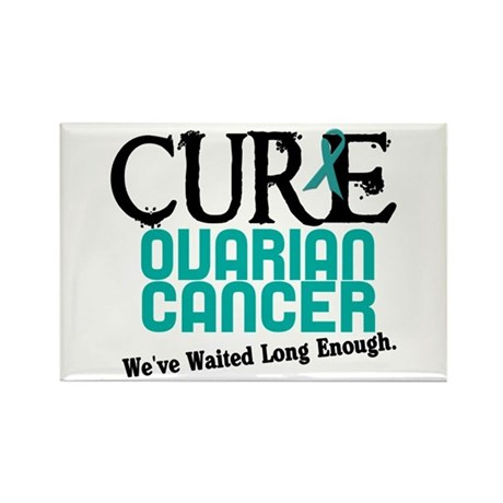 CURE Ovarian Cancer 3 Rectangle Magnet