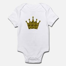 Crown VI goldblk Infant Bodysuit